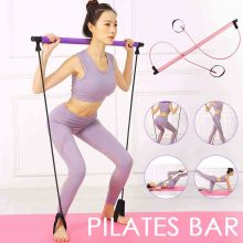 New 8 in 1 Portable Pilates Bar Kit Set Resistance Band