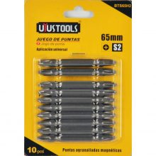 UYUSTOOLS 10 Pcs Double End Bits Set BTS65H2