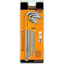 Ingco 9 Pcs Torx Key Set Star Key Set Allan Key Set