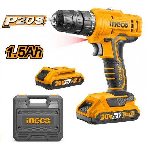 """Lithium-Ion Impact Driver: 170NM Ingco CIRLI20012 Brushless Motor Drill voltage:20V Hex shank:1/4"""""""