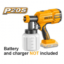 INGCO Cordless Paint Sprayer (Battery and Charger not Included) Lithium-Ion Fence Paint Sprayer Electric Paint Spray Gun for Walls, Ceilings, Fencings CSGLI2001