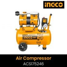 INGCO ACS175246 Silent and oil free Air compressor 600W | 24L Tank, Oil free system