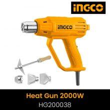 Ingco Heat gun HG200038 2000W with 1pcs scraper and 3pcs nozzles